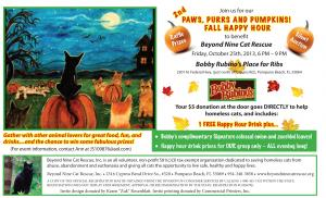 Paws Purrs And Pumpkins Fall Happy Hour